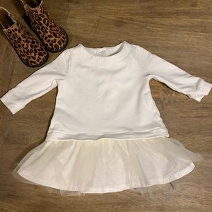 Baby B'Gosh long sleeve tutu dress